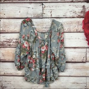 Denim & Supply floral off the shoulder cottagecore